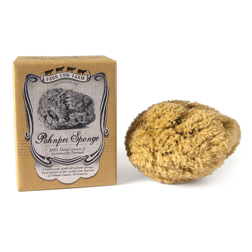 Pohnpei Sponge, Hand-Grown and Sustainably Farmed-Sponge-Handcrafted Skincare-100% Natural and Organic Foodgrade Ingredients-Four Cow Farm Australia
