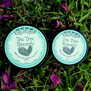 Tea Tree Remedy 50gm-Balm-Handcrafted Skincare-100% Natural and Organic Foodgrade Ingredients-Four Cow Farm Australia