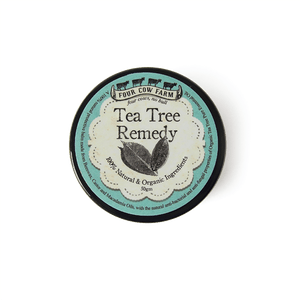 Tea Tree Remedy (Small) 50gm-Balm-Handcrafted Skincare-100% Natural and Organic Foodgrade Ingredients-Four Cow Farm Australia
