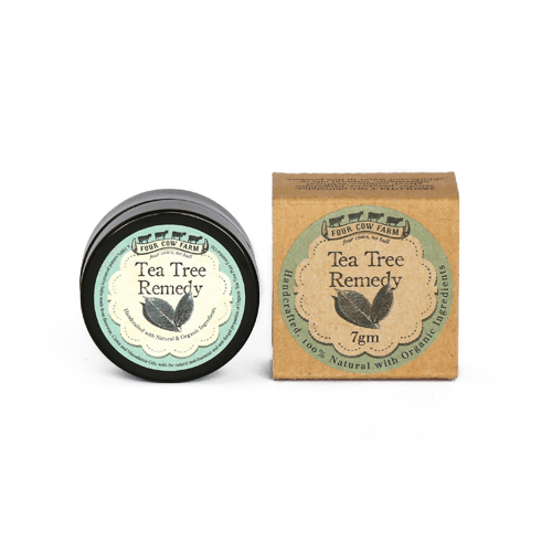 Tea Tree Remedy Mini 7g-Handcrafted Skincare-100% Natural and Organic Foodgrade Ingredients-Four Cow Farm Australia