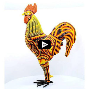 3D Gallo / Rooster - Tierra Huichol