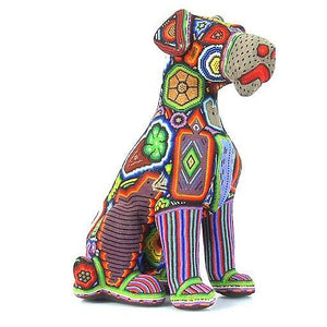 Sculpture Beaded Schnauzer dog