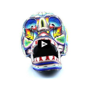 Open-Mouthed Huichol Skull - Tierra Huichol