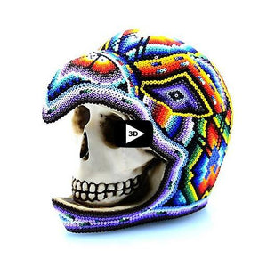 Eagle Warrior Skull - Tierra Huichol