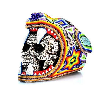 Jaguar Warrior Skull Huichol Art