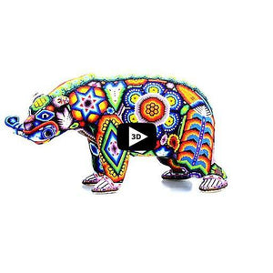 Brown Bear with Salmon - Tierra Huichol