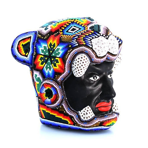 Jaguar Warrior Head - Tierra Huichol