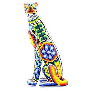 Curious Seated Cheetah - Tierra Huichol