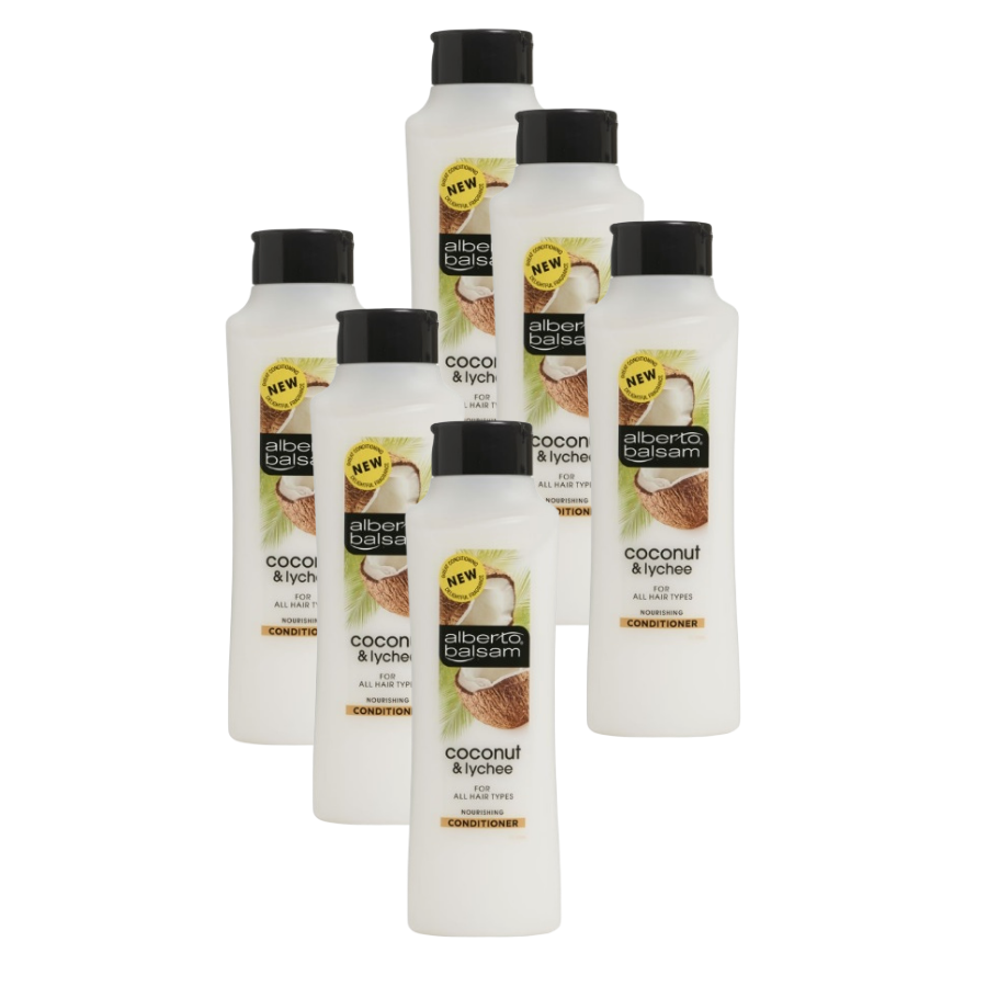 Alberto Balsam Conditioner Coconut & Lychee 350ml (Pack of 6 x 350ml)