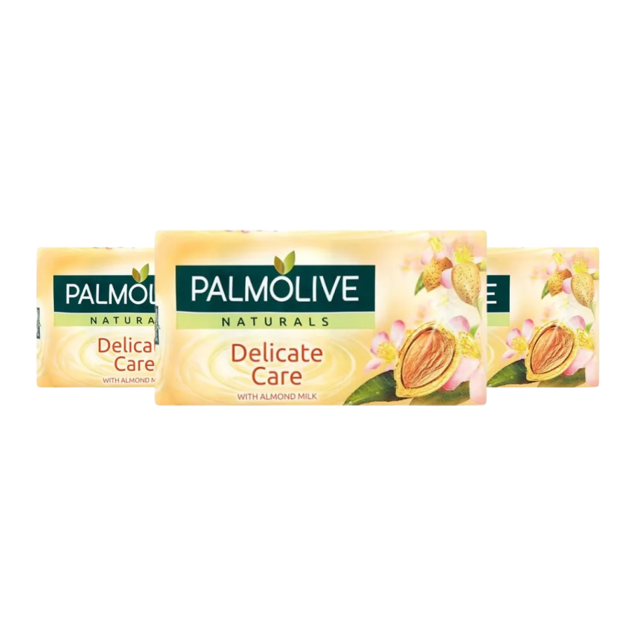 Palmolive Soap Delicate Care With Almond Milk 90g (Pack of 3 x 90g)