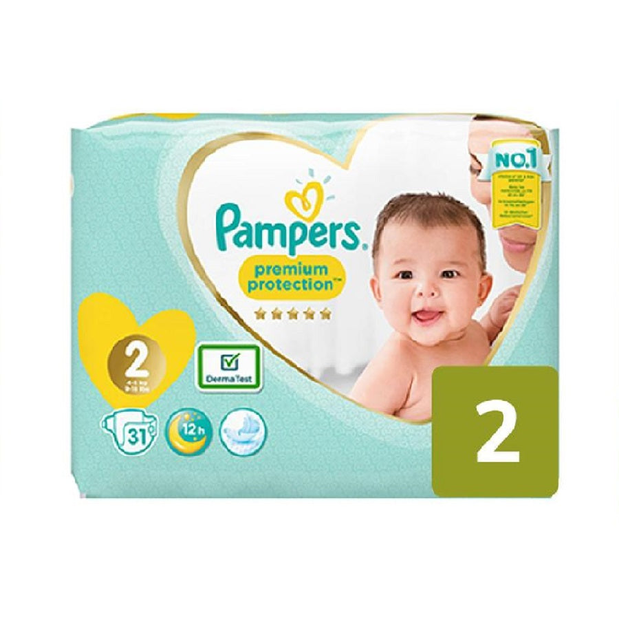 Pampers Size 2 Newborn Premium Protection 31s PM £4.99