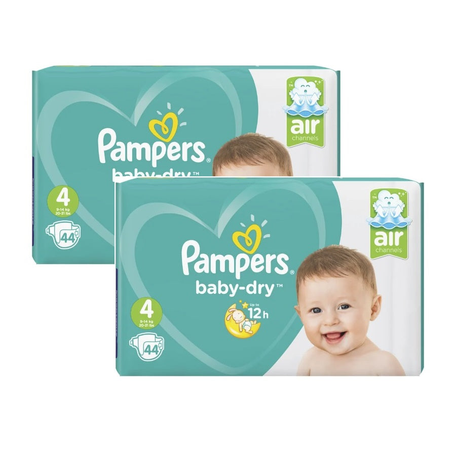 Pampers Baby Dry Maxi Size 4 Essential Pack 44s (Pack of 2 x 44s)