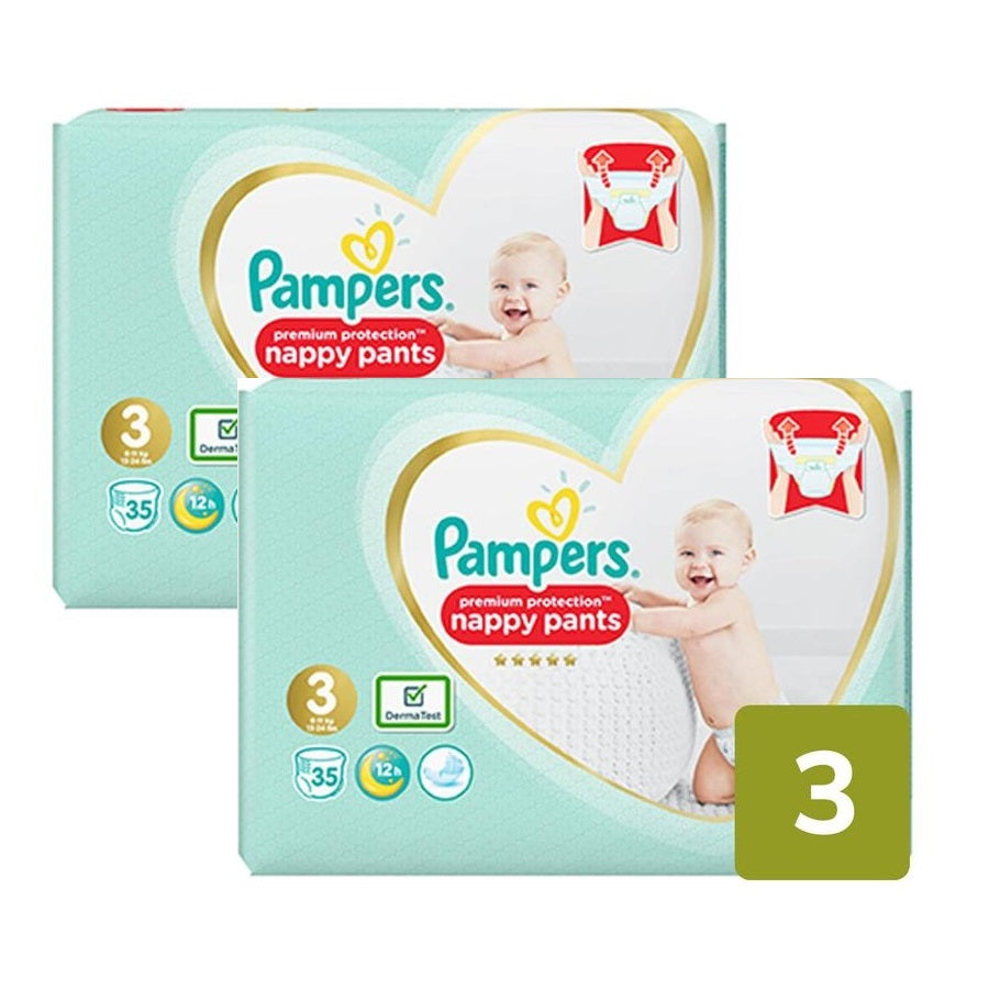 Pampers Premium Pants Size 3 Essential Pack 35s (Pack of 2 x 35s)