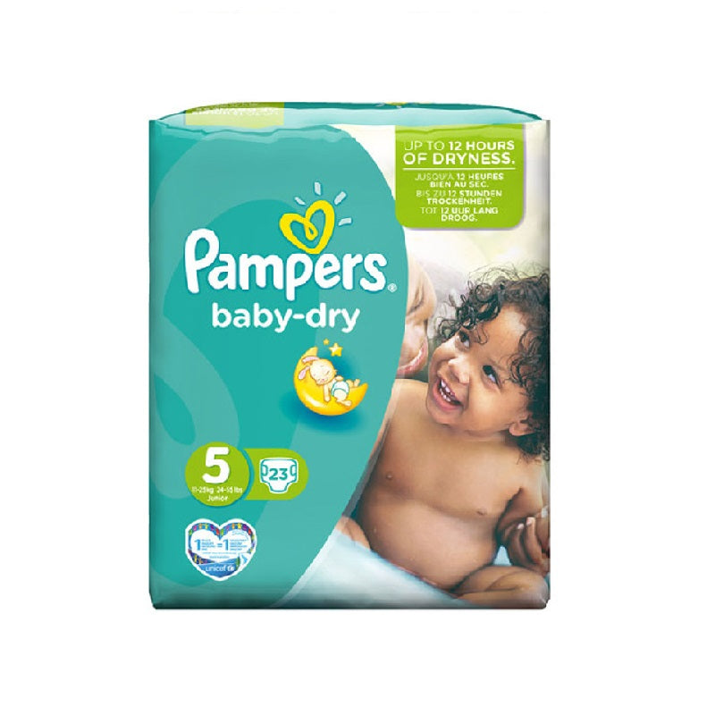 Pampers Baby Dry Junior 23's Size 5