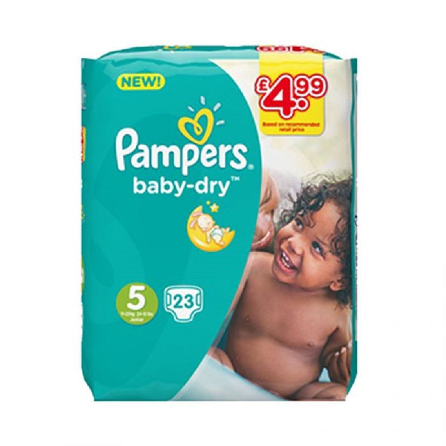 Pampers Size 5 Junior 23s PM £4.99