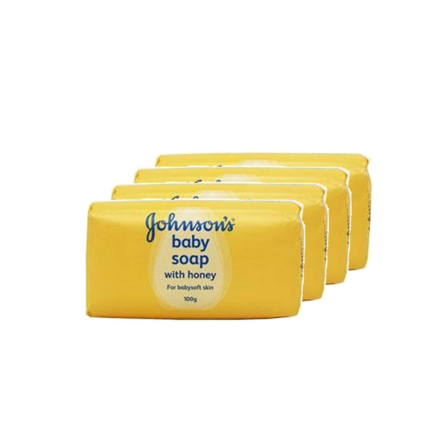 Johnson's Baby Soap Honey 100g (Pack of 4 x 100g)
