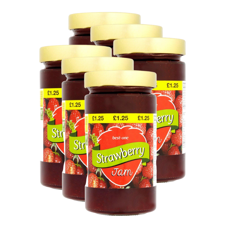 Best-One Strawberry Jam (Pack of 6 x 4454g)