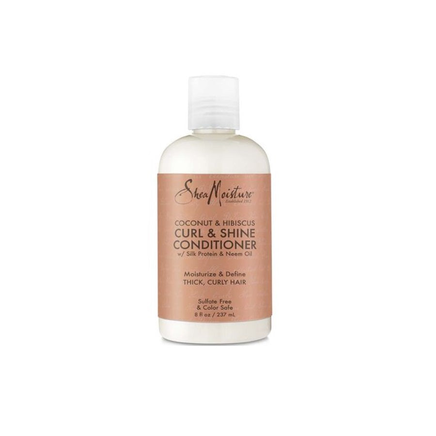 Shea Moisture Coconut & Hibiscus Curl & Shine Conditioner (Pack of 1 x 379ml)