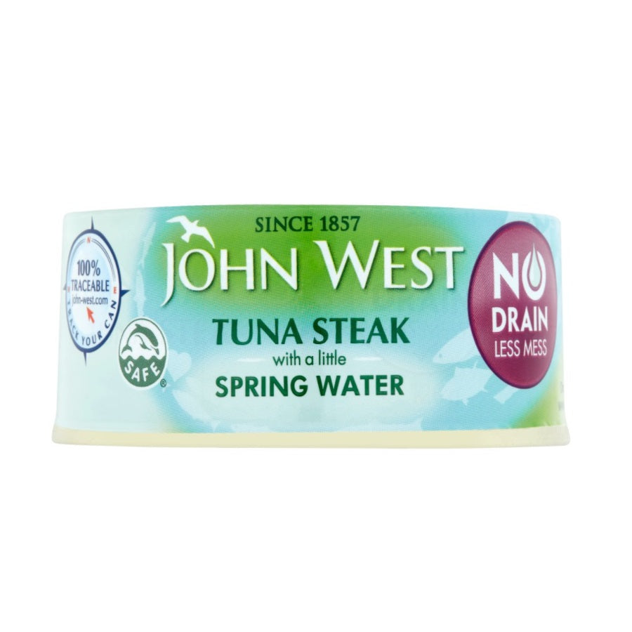 John West No Drain Tuna Steak with a Little Spring Water (Pack of 12 x 110g)