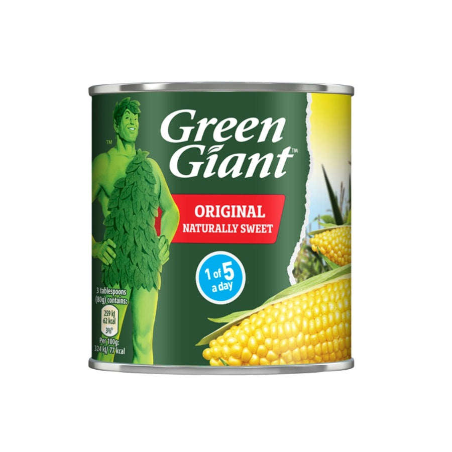 Green Giant Original Sweetcorn (Pack of 12 x 340g)