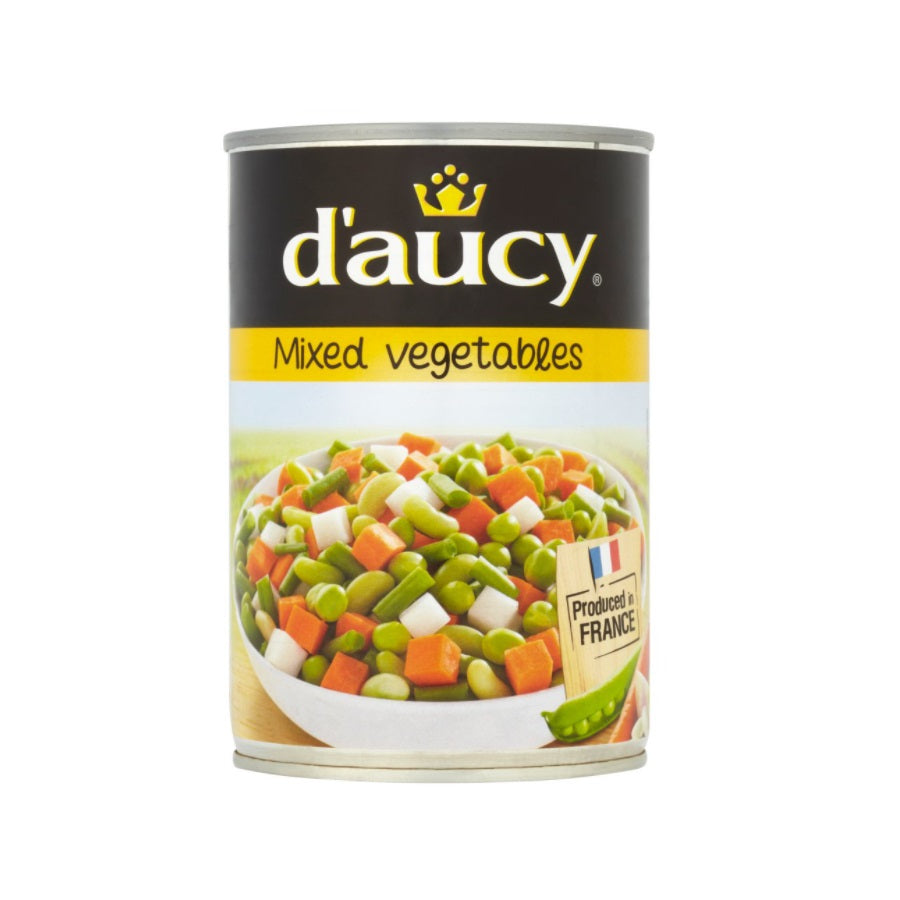 D'Aucy Mixed Vegetables (Pack of 12 x 400g)