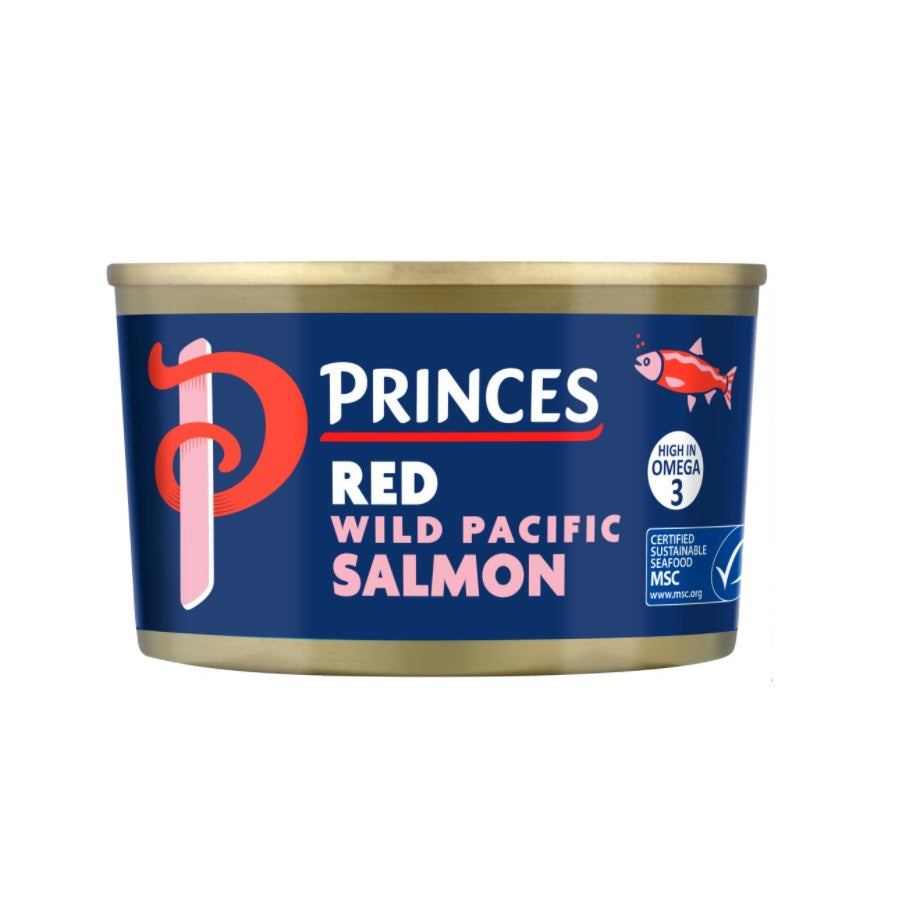 Princes Red Wild Pacific Salmon (Pack of 6 x 213g)
