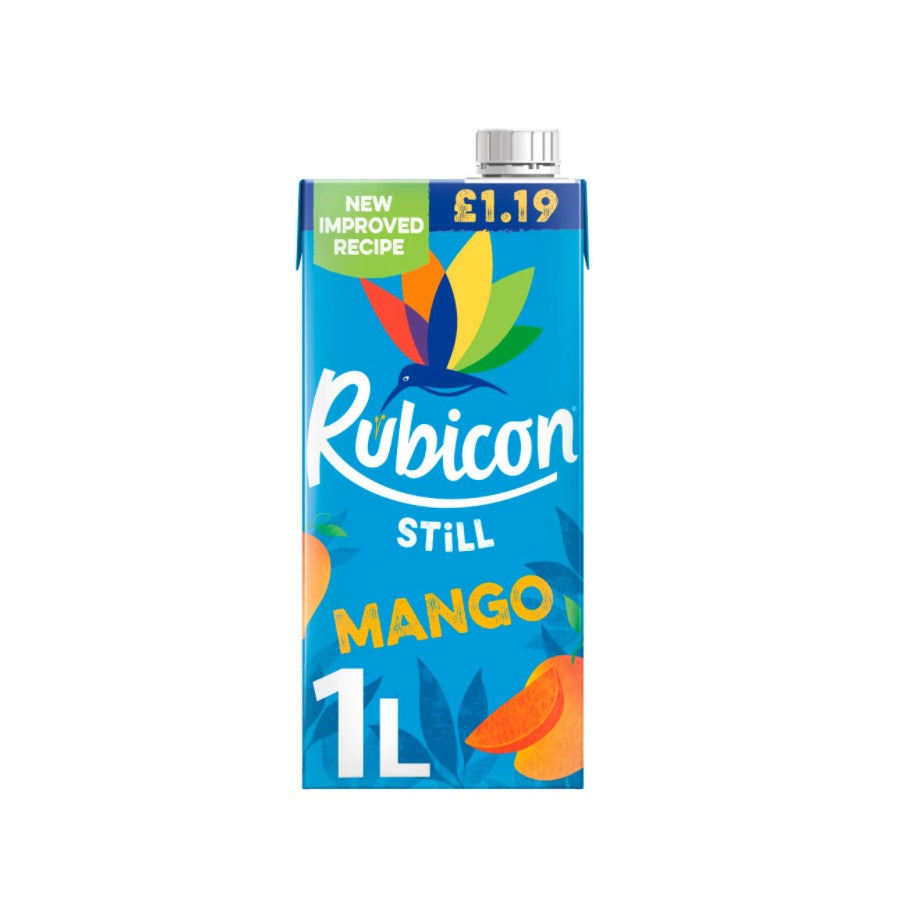 Rubicon Still Mango Juice Drink (Pack of 12 x 1ltr)
