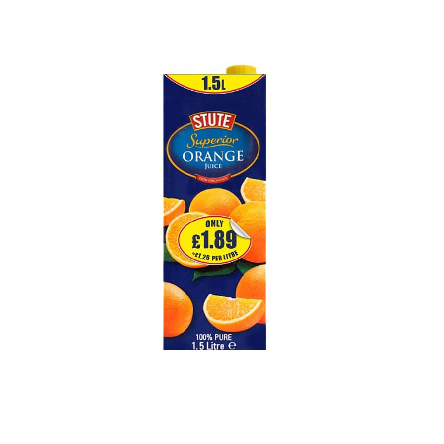 Stute Superior Orange Juice Drink PM £1.89 (Pack of 8 x 1.5ltr)
