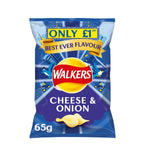 Walkers Cheese & Onion Crisps £1 PMP (Pack of 15 x 65g)
