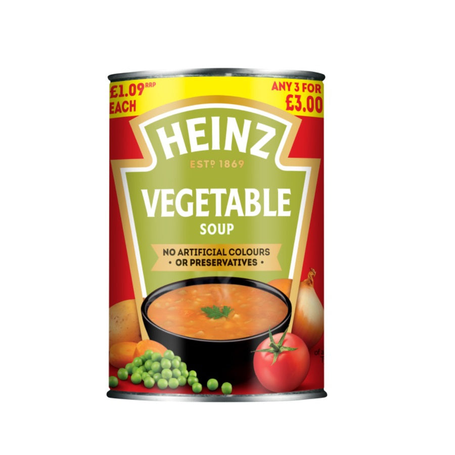 Heinz Vegetable Soup (Pack of 12 x 400g)