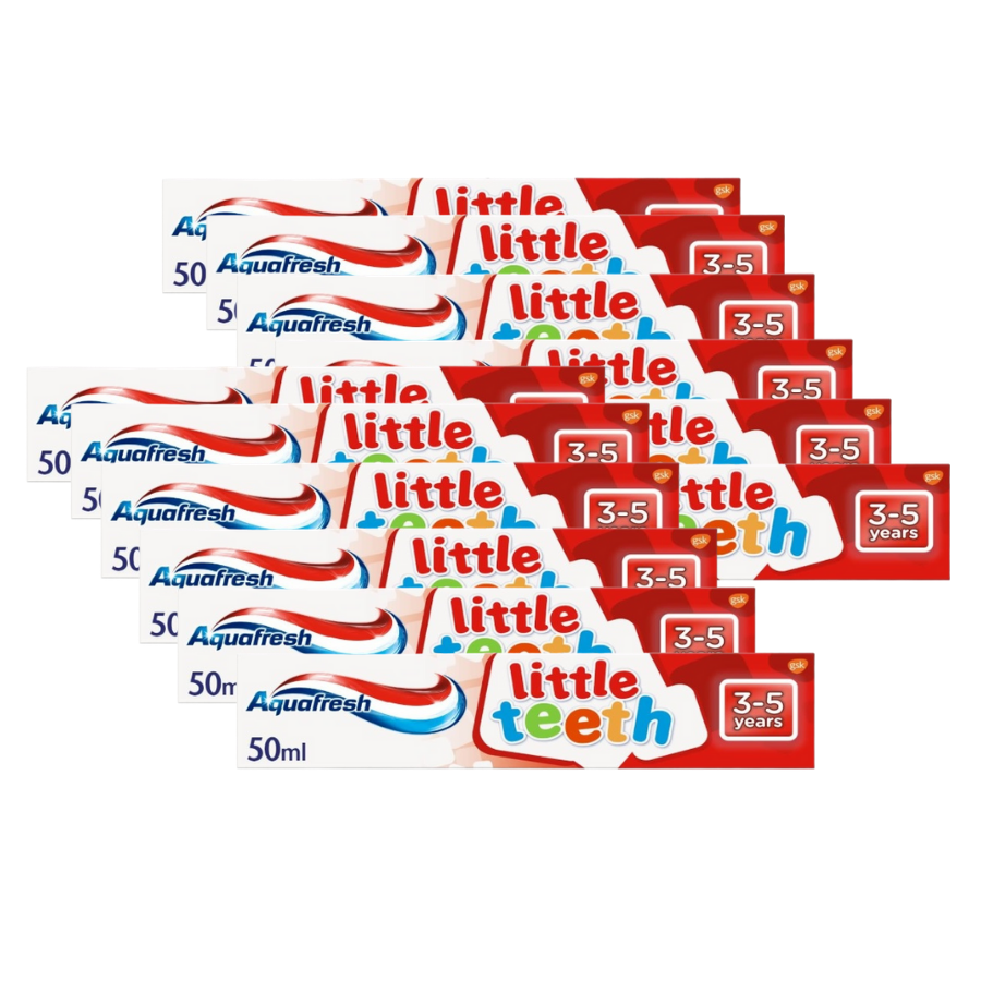 Aquafresh Little Teeth Toothpaste 50ml (Pack of 12 x 50ml)