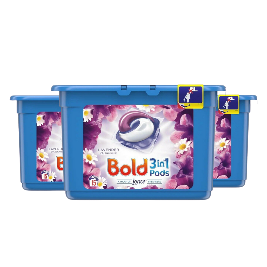 Bold 3 in 1 Lavender & Camomile pods (Pack of 3 x 15s)