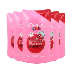 L'Oreal Kids Shampoo Very Berry Strawberry 250ml (Pack of 6 x 250ml)