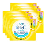 Lil-Lets Tampons Regular 10s (Pack of 8 x 10s)