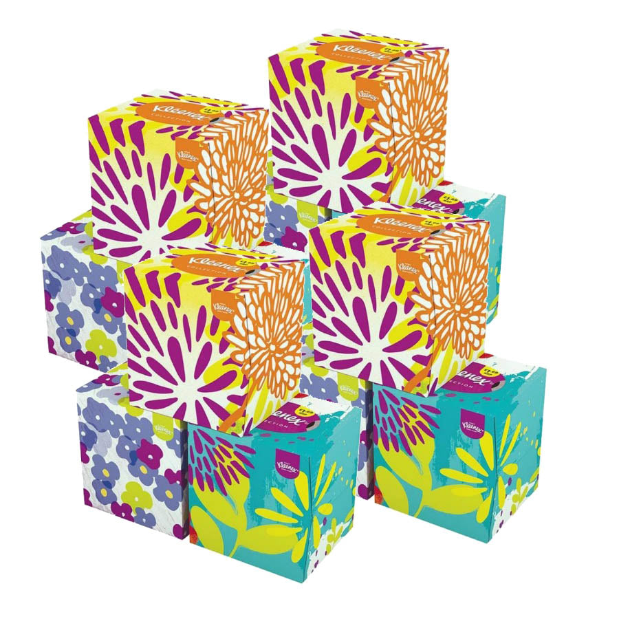 Kleenex Collection Cube Tissues 56s (Pack of 12 x 56s)
