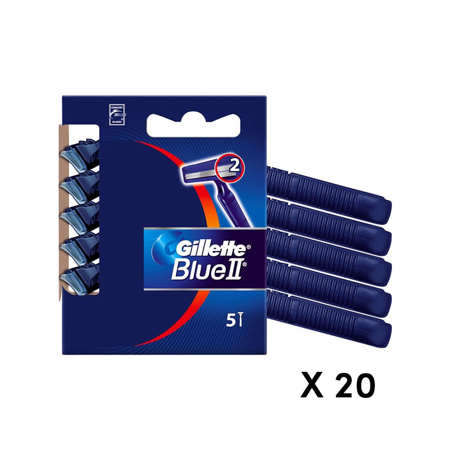 Gillette Blue ll Disposable Razors (Pack of 20 x 5s)
