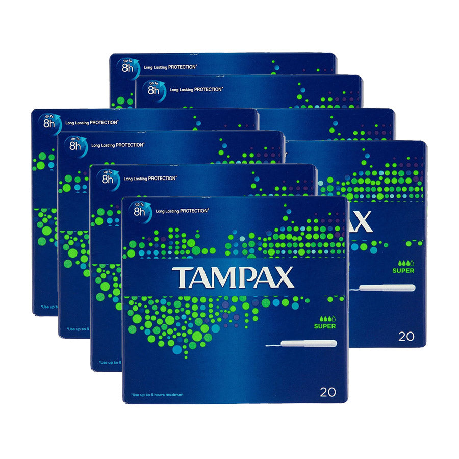 Tampax Super 20s (Pack of 8 x 20s)