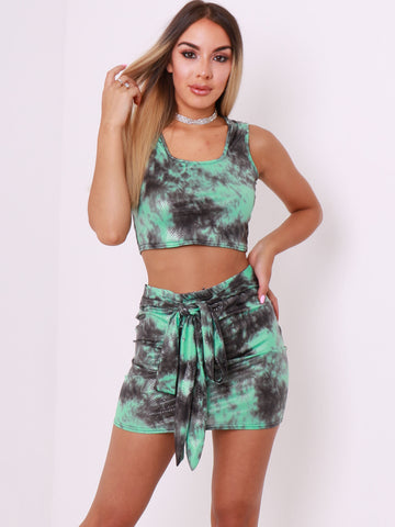 PU Snake Skin Top & Skirt Co Ord - Inoxclothing