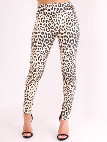 Animal Print PVC Legging - Inoxclothing