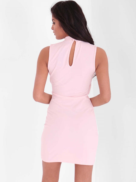 Harness Chocker Detail Midi Dress - Inoxclothing