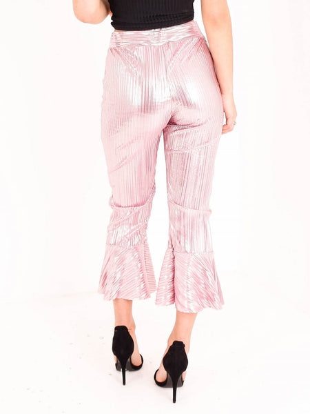 Crinkle Culotte Frill Trousers - Inoxclothing