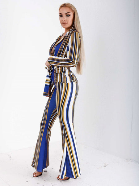 Flare Pant Stripped Co-Ord Set