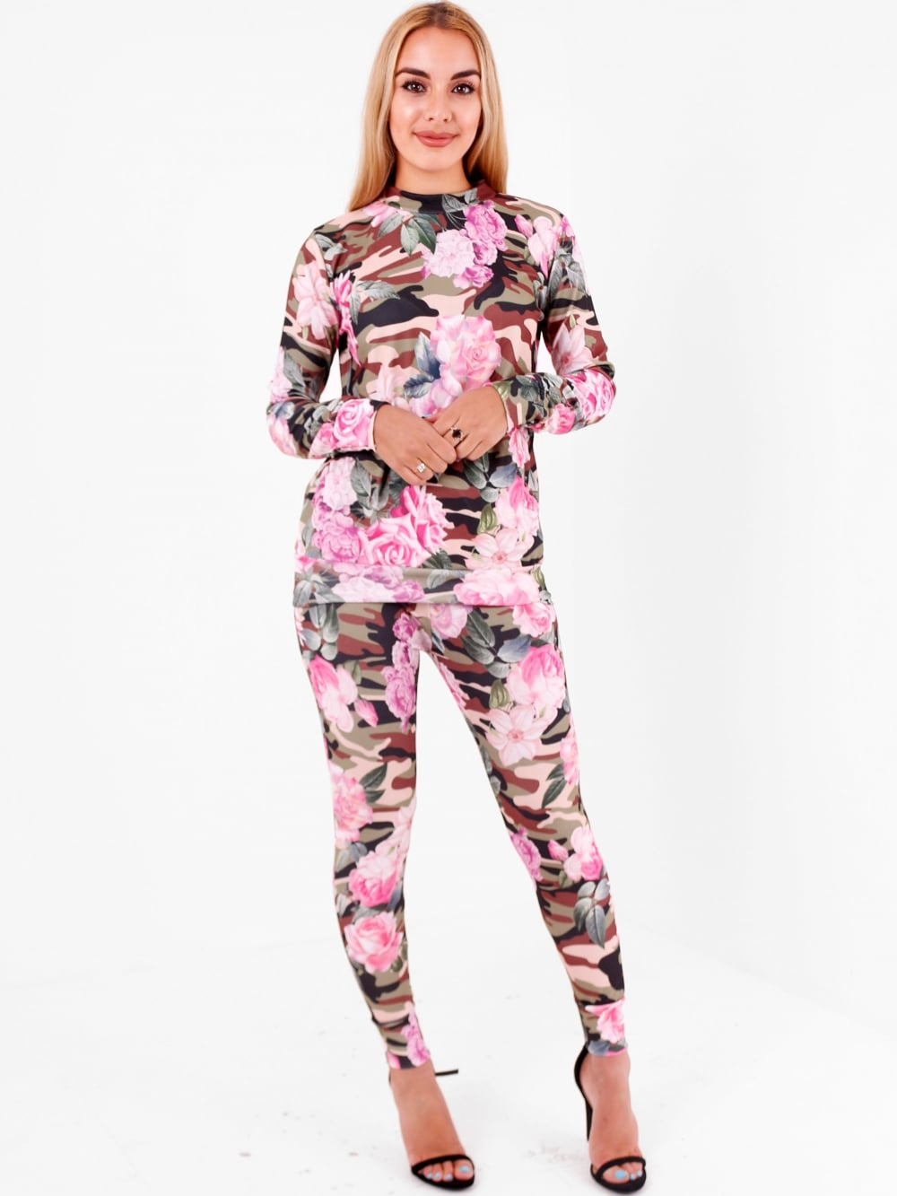 Floral Khaki Camouflage Lounge Wear Set