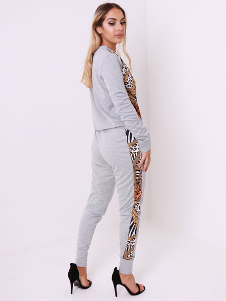 Front Print Tow Piece Loungewear Set - Inoxclothing