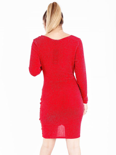 Glitter Wrap Dress - Inoxclothing