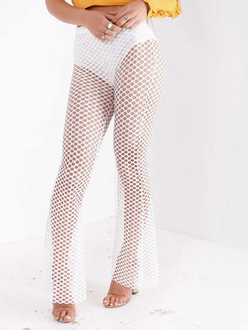 Knickers Line Net Flared Trouser