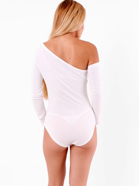 One Shoulder Long Sleeves Bodysuit - Inoxclothing