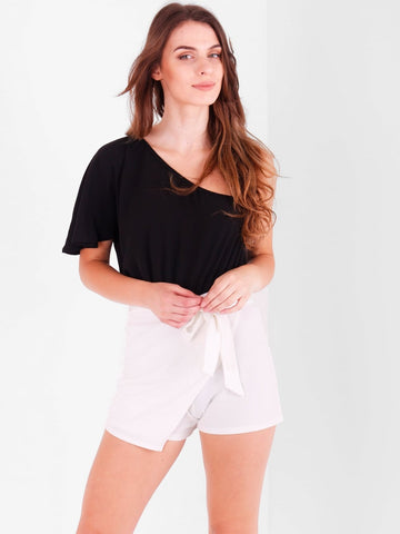 One Shoulder Skort Playsuit - Inoxclothing