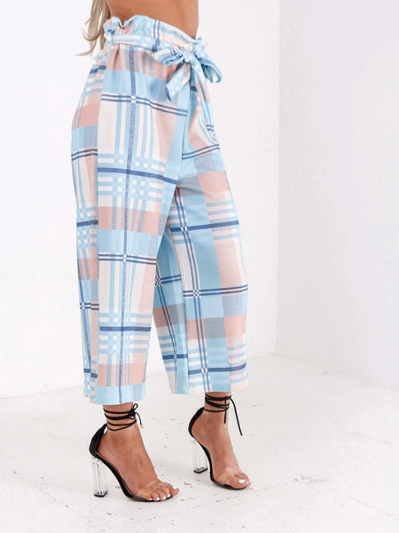 Pastel Print High Waisted Culottes