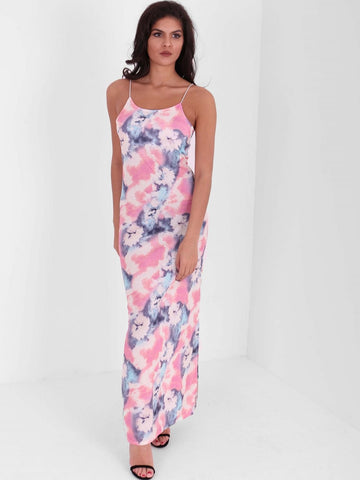 Short Split Side Floral Maxi Dress